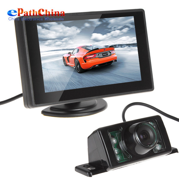 NEW 3 pcs CMOS 420TVLs Car Rearview Backup Night Vision Camera With 4.3 Inch TFT LCD Monitor For Vehicle Parking Assistance(China (Mainland))