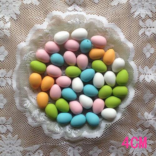 4 cm uovo di pasqua di plastica paniting uova di pasqua decorazione diy dipinta a mano colorato uovo modello giocattoli per bambini pittura creativa(China (Mainland))