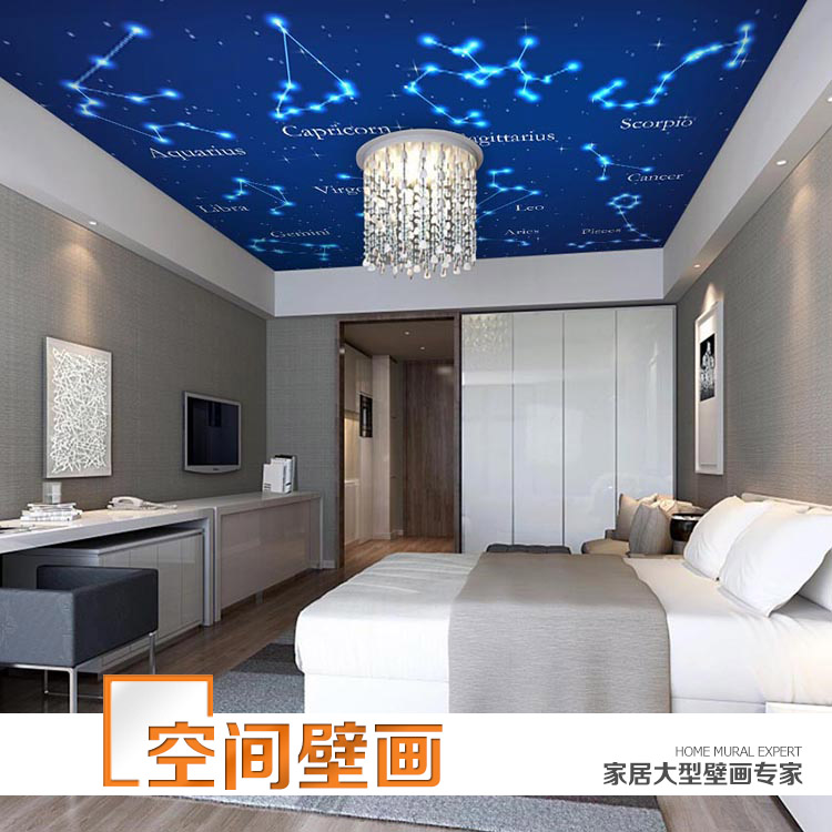 Online buy wholesale 12 paper roll from china 12 paper for Constellation ceiling mural