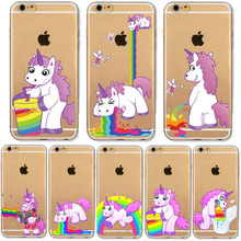 Buy Cartoon Hippo Rainbow Unicorn Horse Phone Cases iphone 6 6S 7 Samsung Galaxy A3 A5 2016 Xiaomi Redmi Hongmi 3S Soft Cover for $1.39 in AliExpress store