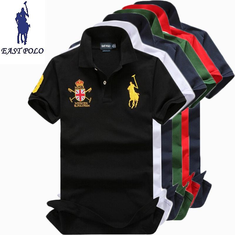 High quality big horse logo brand men solid polo shirt camisa masculina ralp men designer shirt brand men la Casual polo shirts(China (Mainland))