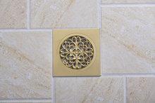 e-pak 5404 Construction & Real Estate Fashion Ross Golden Grate Floor Register Waste Drain 4″ x 4″ Flower Art Floor Drain