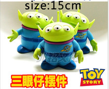 Free shipping 12pcs/lot 15cm Toy Story the little green man Alien Figures toys,mixed design(China (Mainland))