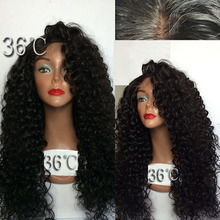 180 Density Long Kinky Curly Glueless Full Lace Wigs Virgin Peruvian Deep Curly Hair Wig Full Lace Front Human Hair Wigs With