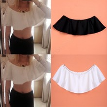 2015 New Hot Summer Sexy Women Fashion Short Tops Blouse Chiffon Off Shoulder Loose Casual Tops Cropped Free Shipping 12(China (Mainland))