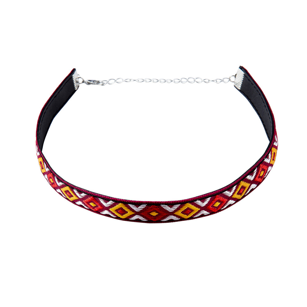 FS 2016 Top Selling Europe & America Embroidery Choker Girls' Clothing Accessories Women Jewelry Great Gift(China (Mainland))