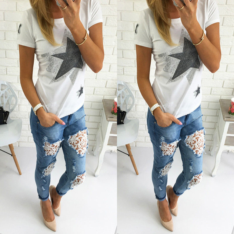 Popular Jeans Ripped Women Lace-Buy Cheap Jeans Ripped Women Lace