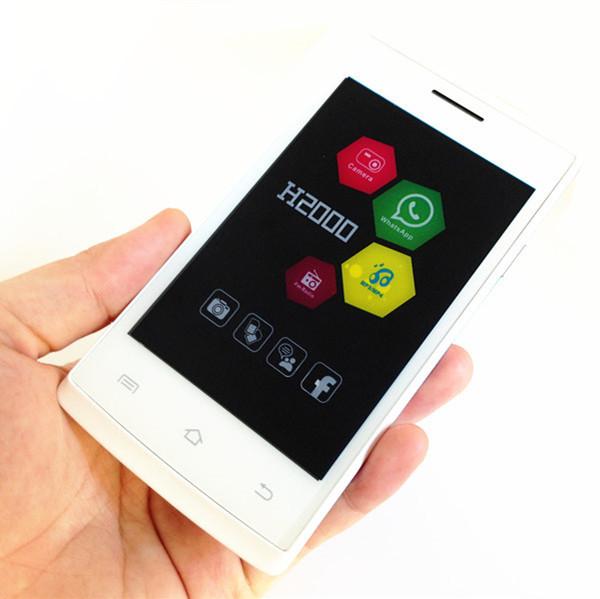 Original H-moible H2000 Slim Bar Cell Phone 4.0'' Big Capacitive Touch Screen Dual SIM Card Dual Standby Good Cheap Mobile Phone(China (Mainland))