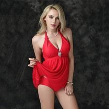Plus Size 2XL-6XL Elegant Beachwear Dress Two Pieces Swimwear Women Sexy Push Up Swimsuit Bottom Triangle Female Bikini Set