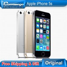 Оригинал завода разблокирована apple , iphone 5S телефон 16 ГБ / 32 ГБ ROM IOS белый черный GPS GPRS A7 IPS LTE подарком гарантия 1 год(China (Mainland))