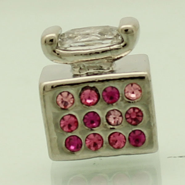 Free shipping pink mosaic Jacinth retro phone charm is suitable for Pandora Bracelets New Year gift(China (Mainland))