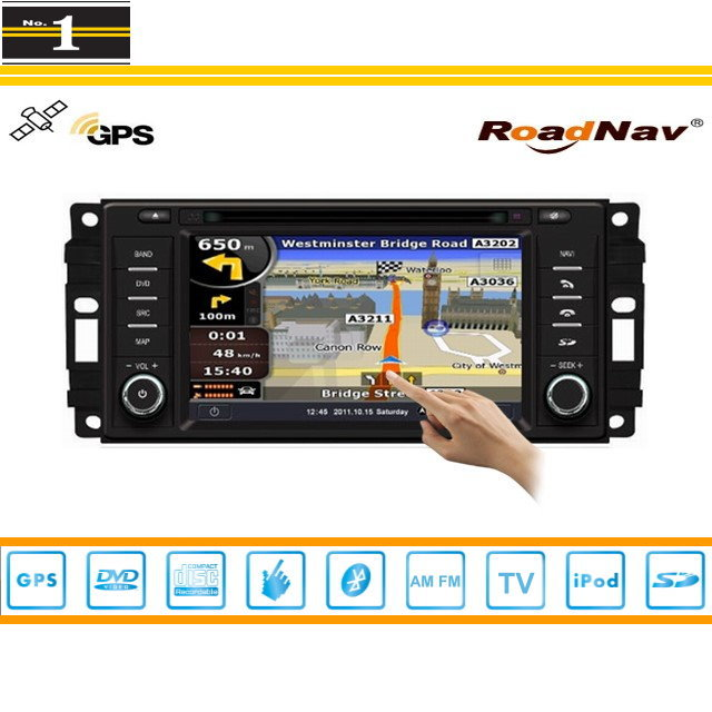 For JEEP Wrangler 2007~2011 - Indash GPS Navigation DVD Player Radio Stereo TV BT iPod 3G WIFI 1080P S100 Multimedia System(China (Mainland))