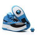 New 2015 Children Heelys Fashion With 0ne Two Wheel Shoes Boy Girl Invisible Button Roller Skates