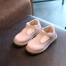 2019 ילד ילדי נעליים בנות סתיו חדש נסיכה אחת נעלי בנות נסיכת מעוור בריטי רטרו עור תינוק נעליים(China)