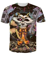 RageOn Nicolas Cage Rage Faces 3D Print T-shirt Casual Cotton Rocket Raccoon Tee Shirts Short Sleeve Homme Loose Unisex Tops