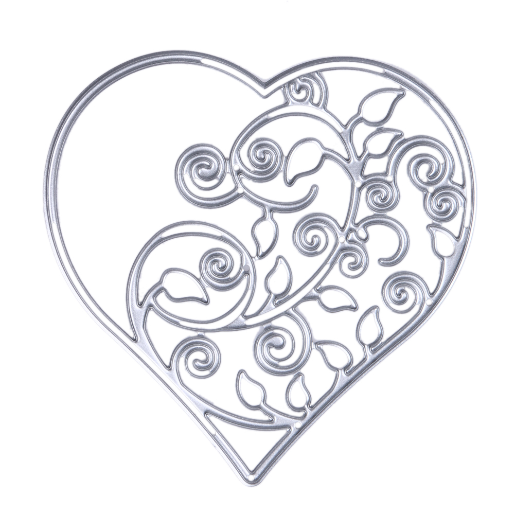 Metal Hollow Out Heart Cutting Dies Stencils DIY Scrapbooking Decorative Embossing Folder Suit Paper Cards Die Cutting Template(China (Mainland))