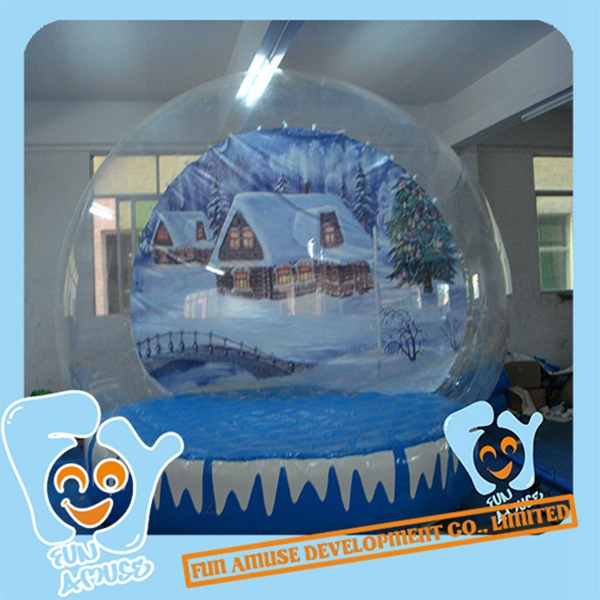 House Snow Globe Globe 2m Blue Snow House