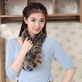 Adult Ring Scarf 2016 New Super Elastic Collar Real Rex Rabbit Scarf Lady Warm Winter Scarves Free Shipping Top Quality WJ012