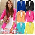 Hot Sale Fashion Jacket Blazer Women Suit Foldable Long Sleeves Lapel Coat Lined With Striped Single