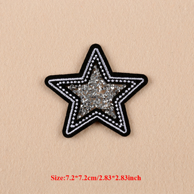10pcs Star Sequined Military Patch For Clothing Embroidered Biker Patches Blouse Dress Shirt Applique Badge parches para la ropa(China (Mainland))