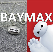 2015 Classic * Sale Rushed Pendants Fine Jewelry Big Hero 6 Baymax Plated Cooper Pendant Necklace Valentine Day Gift Forever (China (Mainland))