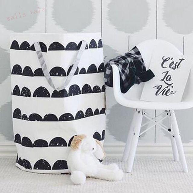 INS популярных большая сумка для хранения игрушек, половина луны современный стиль хранения сумка может стоять детская комната брезентовый МЕШОК ХРАНЕНИЯ