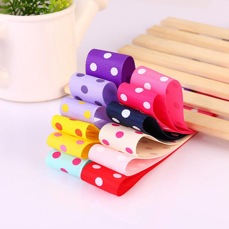 1 Yard 25mm Dots Printing Grosgrain Satin Ribbon DIY Decoration Crafts Gifts Fabric Belt Kids Hair Accessories(China (Mainland))