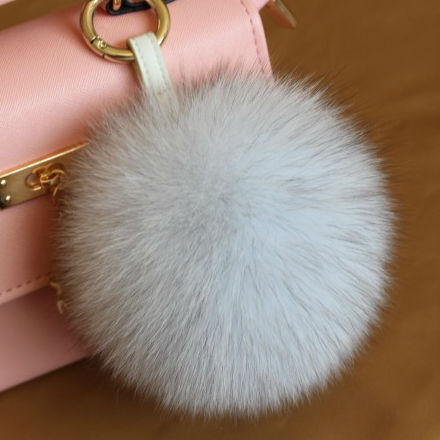 Здесь можно купить  Free Shipping Multicolor Fluffy Keychain Large Real Fox Fur Ball Key Chain  Women Luxury Bag Charms And Keychains Car Key Ring  Ювелирные изделия и часы