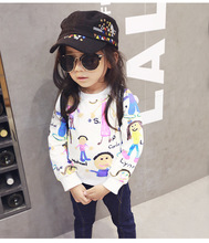 2016 Spring And Autumn Children Clothes Kids Long-sleeved Hoodies Cotton Sweater For Girls