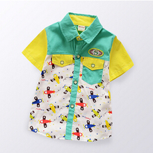2015 new fashion summer baby boys shirts kids shirt cotton children clothing multicolor baby clothes garcon baby boy shirt