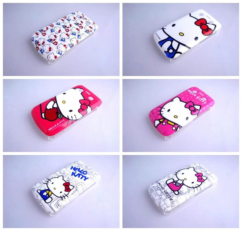 7 Patterns Hello Kitty Hard Phone Cover Case for BlackBerry Bold 9700 Phone Cases Cover(China (Mainland))