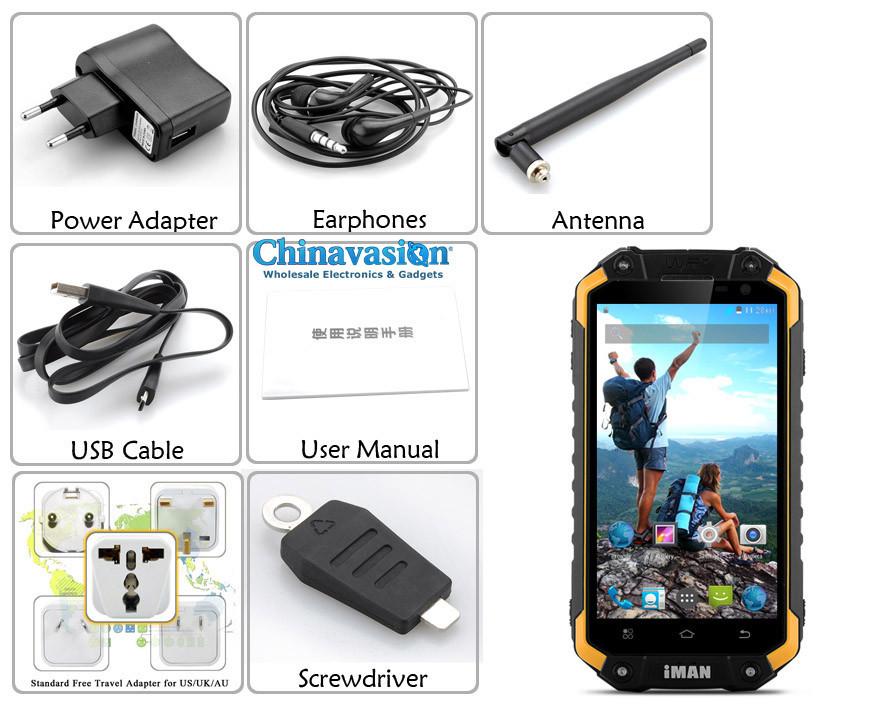 Мобильный телефон i6 IP67 /4.7/720p , Android 4.4, 1,7 , 2 , 16