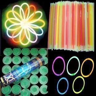 """100pcs 8"""" Multi color hot glow stick led color flashing bracelet lighting flash sticks festival item FREE SHIPPING"""