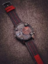 Fashion JIS Sport Military Brand Quartz PU Leather Wrist Watch Hours Clock for Male Men High