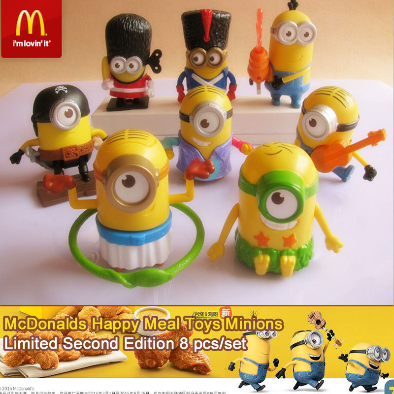 Minions McDonalds Happy Meal Toys Minions, all 8PCS. 2015 ...