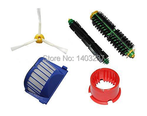 Bristle+Flexible Beater Brush Cleaning Tool 3-armed Side Brush Aero Vac Filter for iRobot Roomba 500 Series 536 550 551 552 564(China (Mainland))