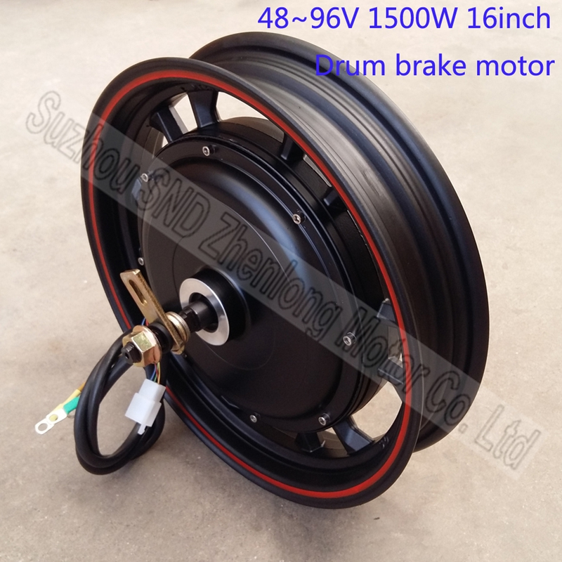 16inch ZL motor brand 48V60v72V96V 1500W e-bike hub motor/ e-scooter modify brushless hub motor G-M501(China (Mainland))