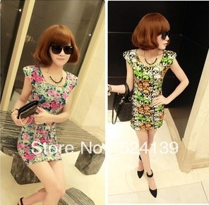 2013 Fashion Women Dress Sexy Dress  Skull Flower  MIni Dress 3 Color Free Shipping