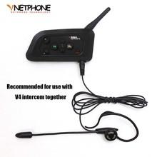 Football Referee Headset Monaural Earhook Earphone Works with Vnetphone V4 Bluetooth Helmet Intercom(China (Mainland))