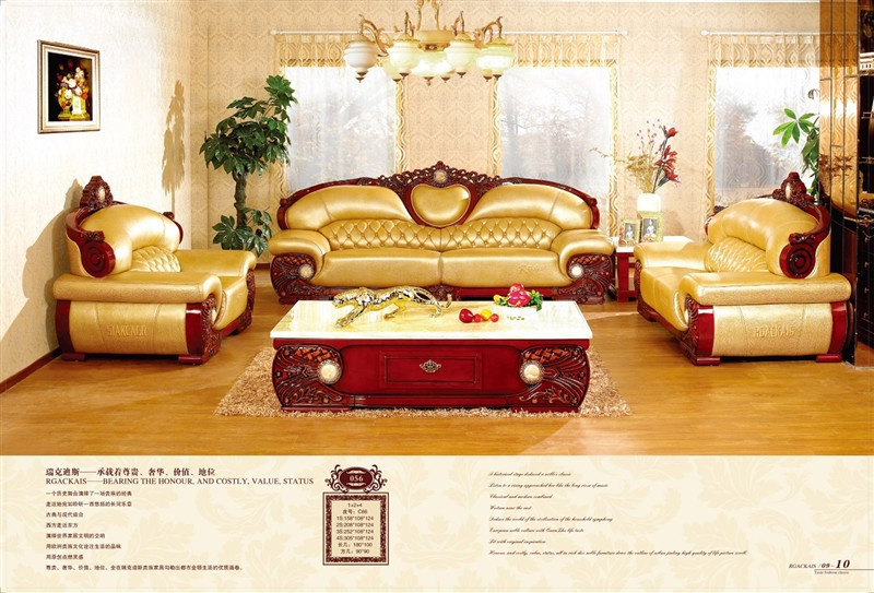 2013 Latest Classic Living Room Furniture Bedroom Luxury Ornate Sofa Commercial Family Carrying