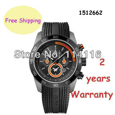 NEW BLACK ORANGE SILICONE STRAP CHRONOGRAPH F1 WATCH HB 1512662 HB1512662 + ORIGINAL BOX(China (Mainland))