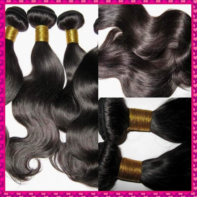 Mixed bundles Body wave Unprocessed Virgin filipino hair extensions 4pcs/lot Machine weave Free DHL shipping(China (Mainland))