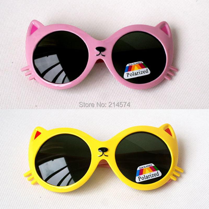 Cute Animal Design Fashion Sunglasses for Kids Soft Children's Glasses UV400 Polarized Baby Sunglasses Oculos de Sol Infantil(China (Mainland))