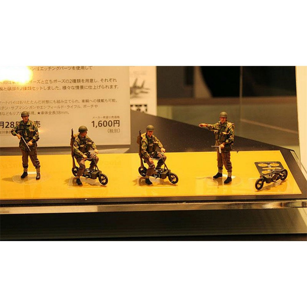 OHS Tamiya 35337 1/35 British Paratroopers w/Small Motorcycle Set Miniatures Assembly Military figures Model Building Kits TTH