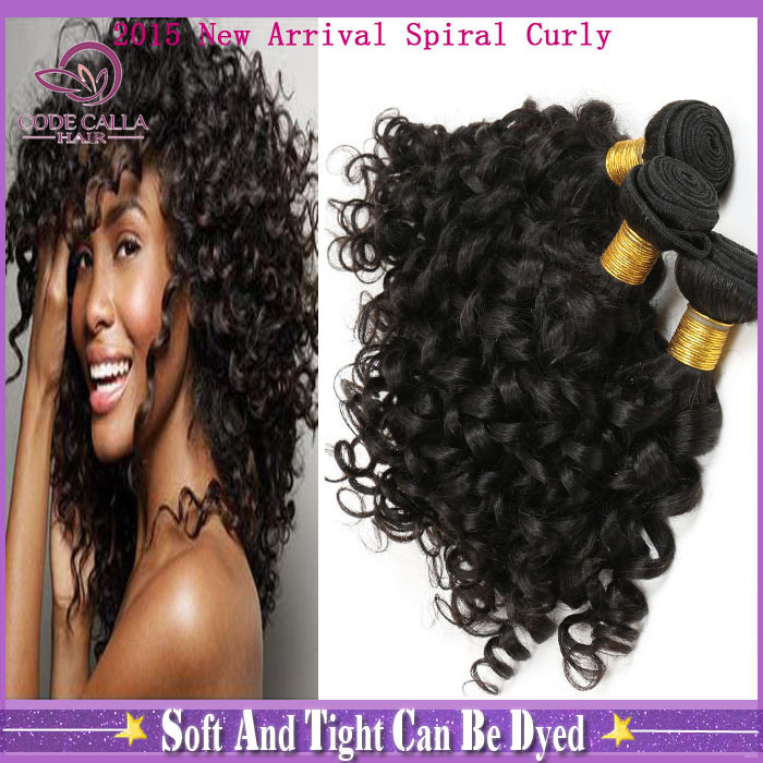 Brazilian Virgin Hair 6a Spiral Curly 3pcs Spiral Jerry Curly Remy Human Hair Weave Domestic Delivery Free Shipping WSC101(China (Mainland))