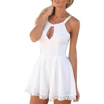 Новый сексуальный комбинезон для женщин белое кружево Bodycon комбинезон черный элегантный ...