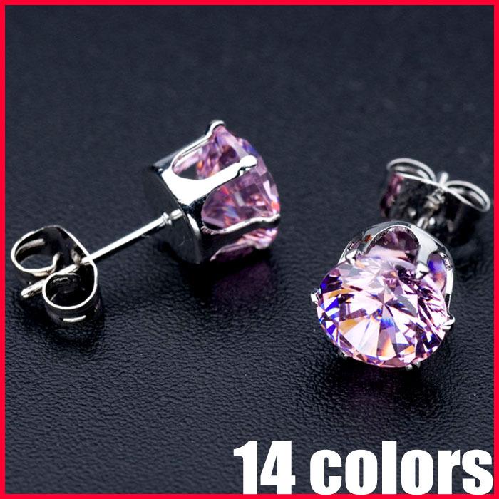 Wholesale Lead Nickel Free AAA CZ Earrings Real 18K Gold Platinum Plated Zircon Earrings - SKBTQ(China (Mainland))