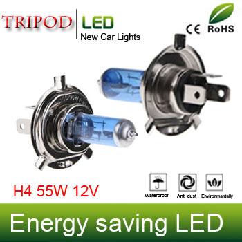 Tripod brand lighting car lights  H4   55W white halogen fog lights xenon lamps  DC  12V 2pcs/lot  ZM01001