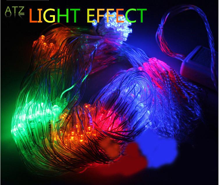 Colorful 1.5*1.5m 120 LED Net Light Christmas Lights/Wedding/Party Decoration OUTDOOR LED Lighting portato luce netto(China (Mainland))