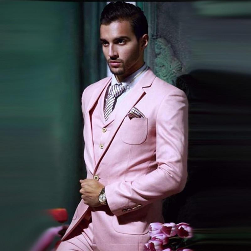 Custom-Made-Handsome-One-Button-Pink-Groom-Tuxedos-Notch-Lapel-Best-Man-Groomsman-Men-Wedding-Suits